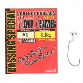 21793-Decoy Violence Jigheads Vj-71 Nail Bomb