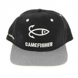 8428679015255-Gorra Game Fisher Snapback Black / Grey