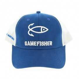 8428679015262-Gorra Game Fisher Trucker White / Blue Royal