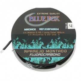 21747-Bluefox Mikonos Fluorocarbono 3 anzuelos