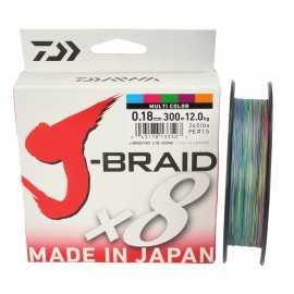 14727-Daiwa J-braid X8 300 mt Multicolor