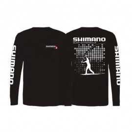G7003-Shimano Camiseta Surf Negra