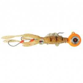 842867904055-Montaje Zokaball 150 Gr Naranja + Calamar Chasebait 20 Cm Calamari