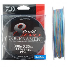 G6442-Daiwa Tournament Braid 8 Evo 300 mt Multicolor