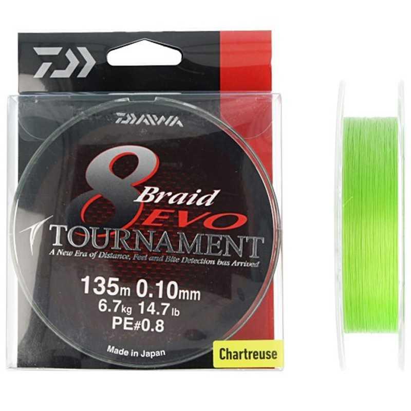 G6837-Daiwa Tournament Braid 8 Evo 135 mt Chartreuse