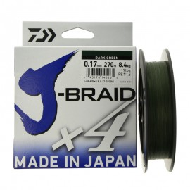 G79657854-Daiwa J-Braid X4 270 mt Dark Green
