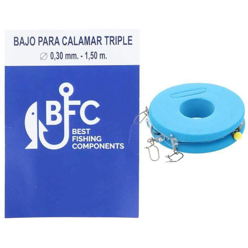 8436581601022-BFC Bajo para Calamar Triple 0.30 mm 1,50 Mt