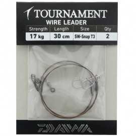G6036-Daiwa Tournament Wire Leader SW-Snap 30 cm