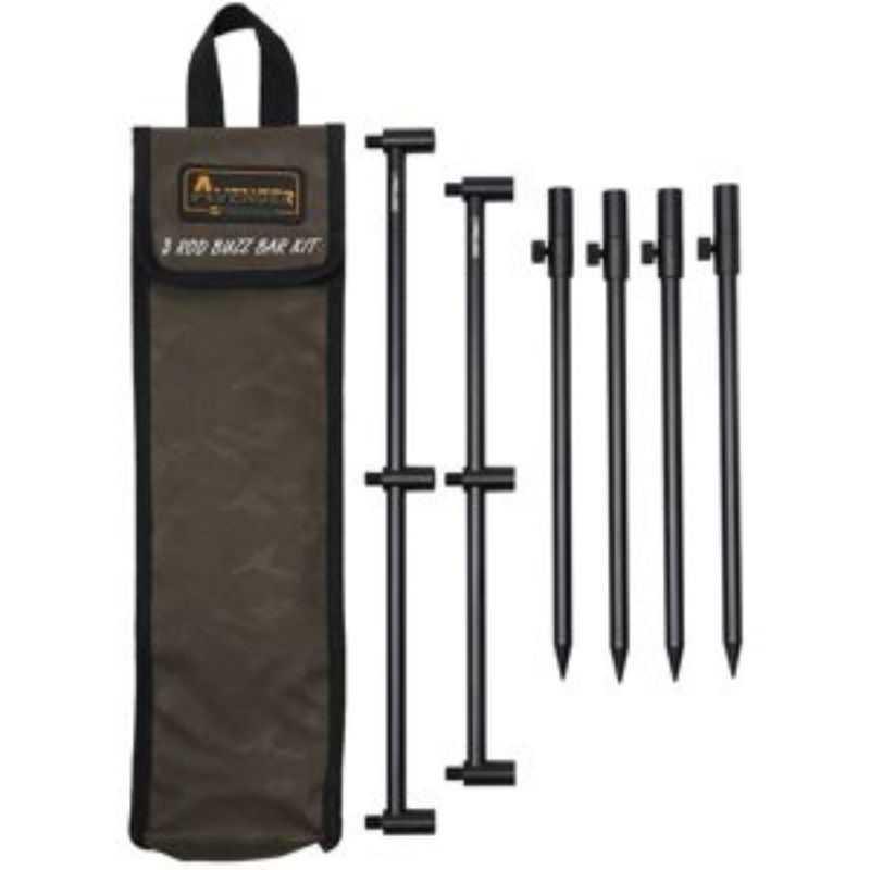 Prologic Avenger Buzz Bar Kit & Carrycase 3 ROD