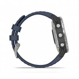 Garmin quatix® 6, gris con correa azul marino