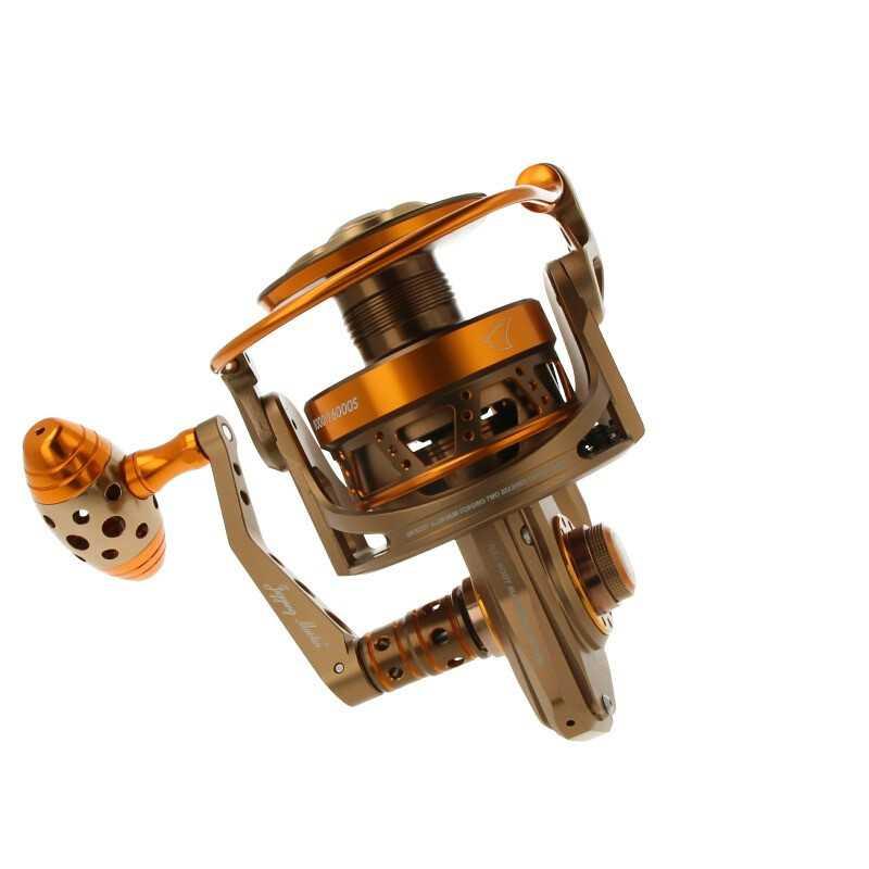 Carrete Jigging Master JM MONSTER GAME 8000XH/16000S Spinning Reel (1:5.8) XH BR/GD