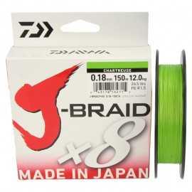 14712-Daiwa J-braid X8 150 mt Chartreuse