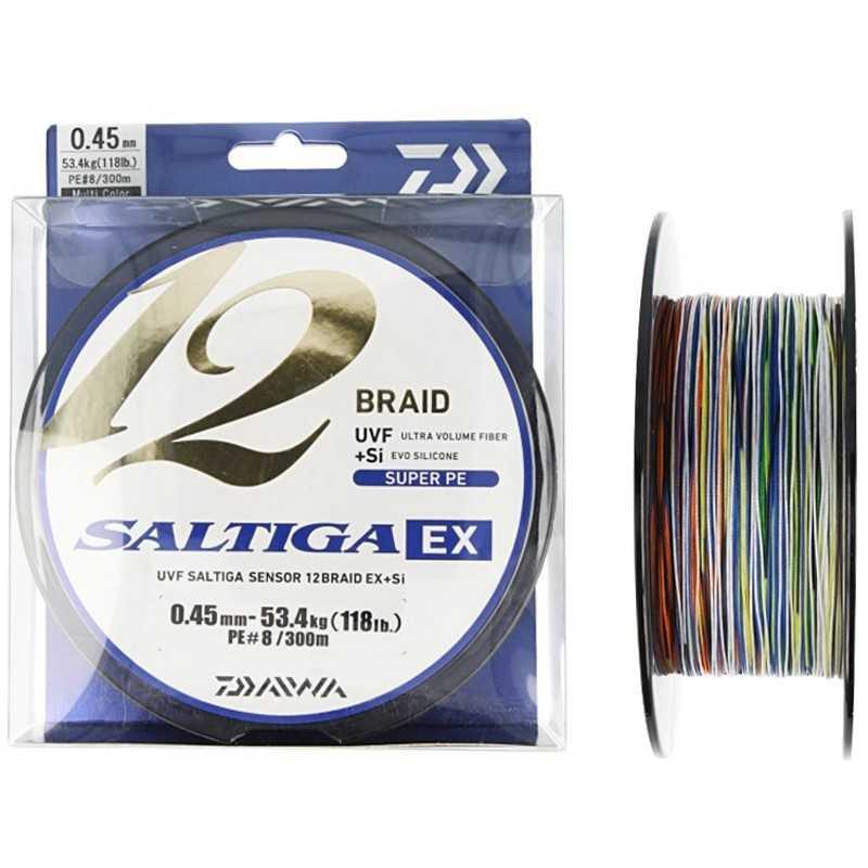 G6675-Daiwa Saltiga 12 Braid EX 300 mt Multicolor