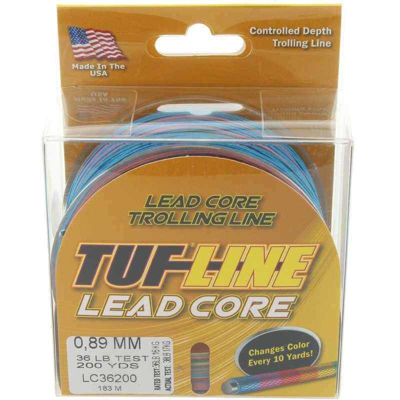 087852536208-Tuf-Line Lead Core Dacron plomado 36 Lbs/ 183 mts- 0.89mm