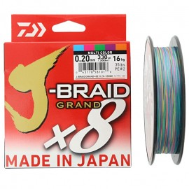 G6831-Daiwa J-braid GRAND X8 300 mt Multicolor