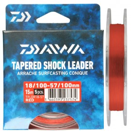 G7498-Daiwa Cola de Rata Tapered Shock Leader TPLDR 15 Mt 5 Uds