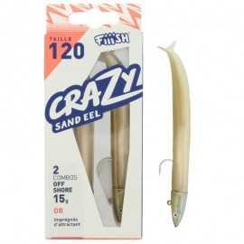 22006-Fiiish Crazy Sand Eel Combo Doble 120 mm Offshore 15 gr