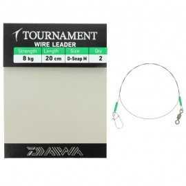 10446-Daiwa Tournament Wire Leader D-Snap 20 cm