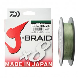 14718-Daiwa J-braid X8 300 mt Dark green