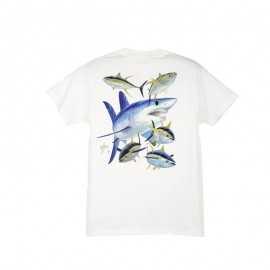 21113-Guy Harvey Kids Tiburón Camiseta