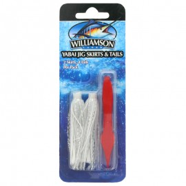 21829-Williamson Yabai Jig Skirts&Tails (2 Skirts+4Tails)