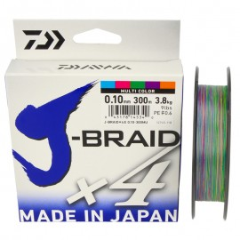 G6081-Daiwa J-Braid X4 300 mt Multicolor