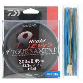 G6442-Daiwa Tournament Braid 8 Evo 300 mt Multicolor