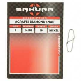11704-Sakura Agrafes Diamond Snap