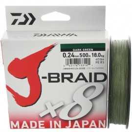 14720-Daiwa J-braid X8 500 mt Dark green