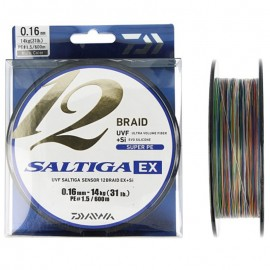 G6645-Daiwa Saltiga 12 Braid EX 600 mt Multicolor