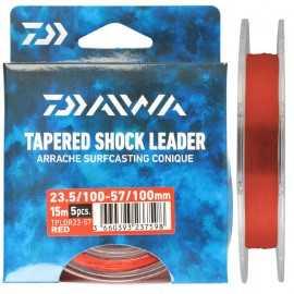 G7498-Daiwa Cola de Rata Tapered Shock Leader TPLDR 15 Mt 5 Uds
