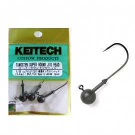 71096-Keitech Tungsten Super Round Jig Head