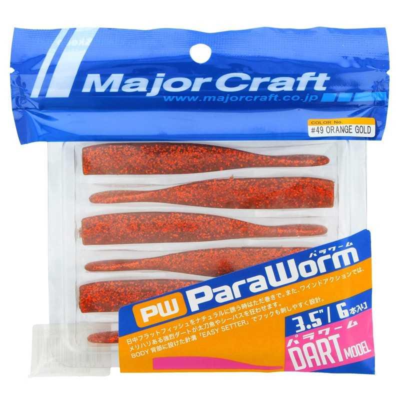 "G6177-Major Craft ParaWorm Dart 87 mm 3.5"""