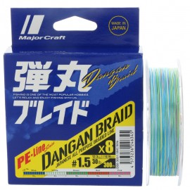 G6399-Major Craft Dangan Braid X8 300 Mt