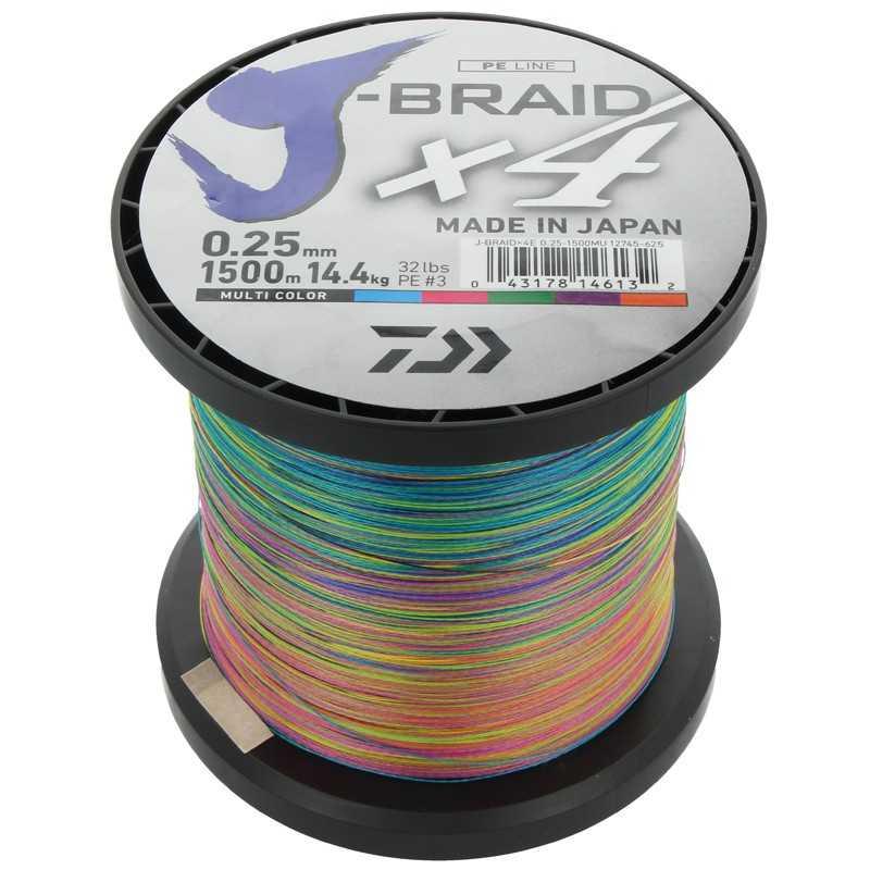 G6005-Daiwa J-Braid X4 1500 mt Multicolor